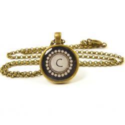Letter C Initial Pendant Necklace